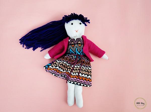 Tutorial: Soft fabric sock doll