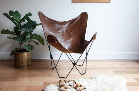 Free pattern: Leather butterfly chair cover