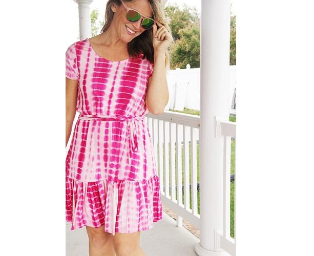 Tutorial: Summertime elastic waist ruffle dress
