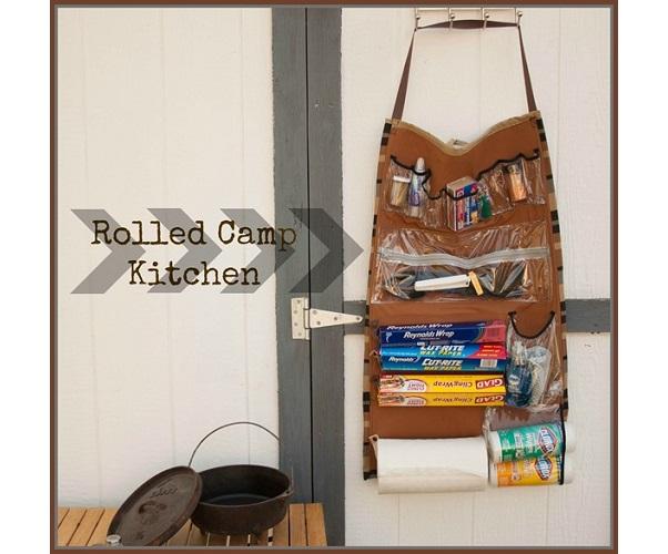 Tutorial: Roll-up camp kitchen organizer