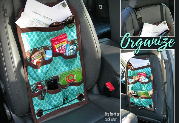 tutorial car organizer caddy for the front or back seat sewing. Black Bedroom Furniture Sets. Home Design Ideas