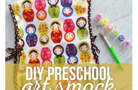 Free pattern: Preschool art smock