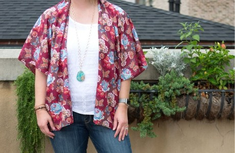 Tutorial: Kimono top for summer layering