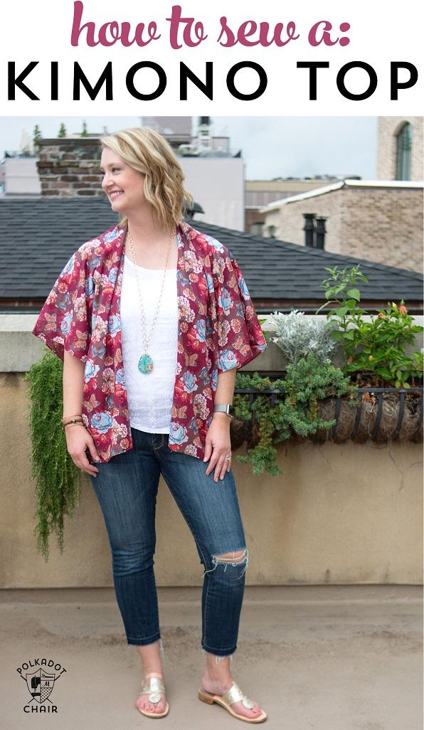 Tutorial: Kimono top for summer layering