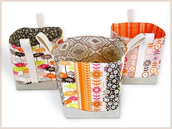 Tutorial: Tall fabric baskets