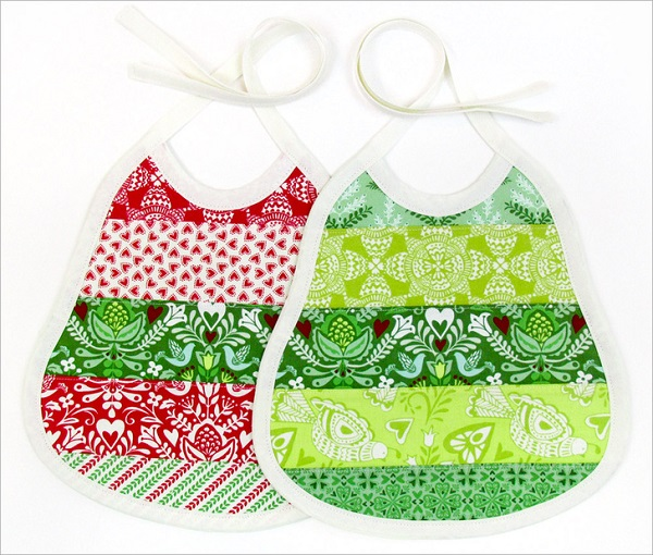 Free pattern: Terry cloth backed baby bibs