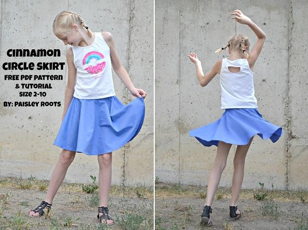 Free pattern: Girls' circle skirt
