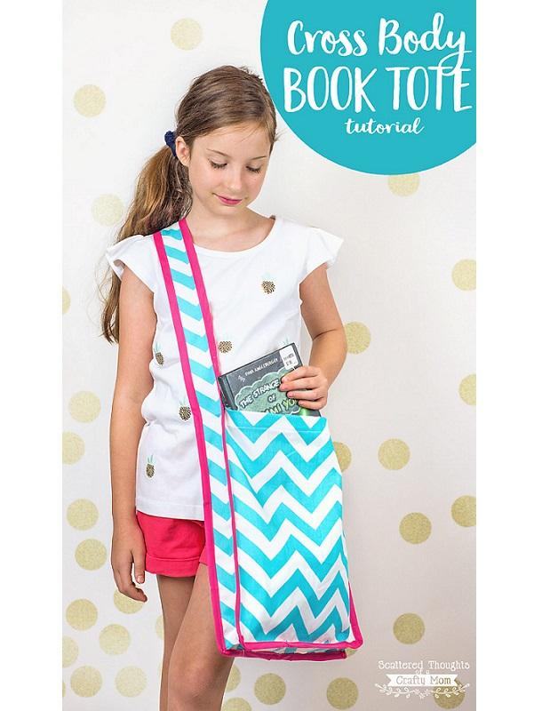 Tutorial Sew a cross body book tote