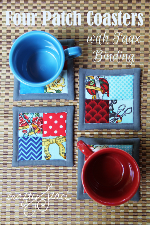 Tutorial: Scrapbusting four patch coasters