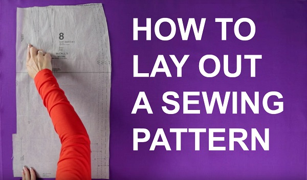 Video tutorial: How to lay out a sewing pattern