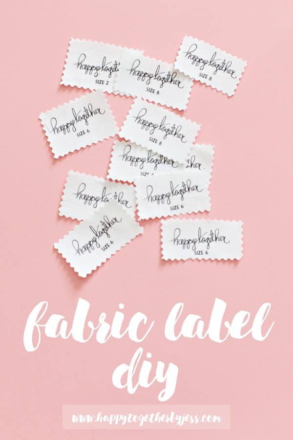 Tutorial make your own fabric labels sewing for Sew in craft labels