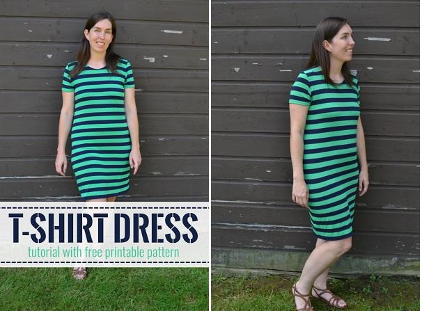 Free pattern: Simple t-shirt dress