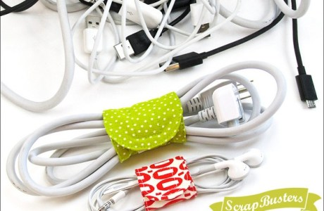 Tutorial: Easy cord wraps from fabric scraps