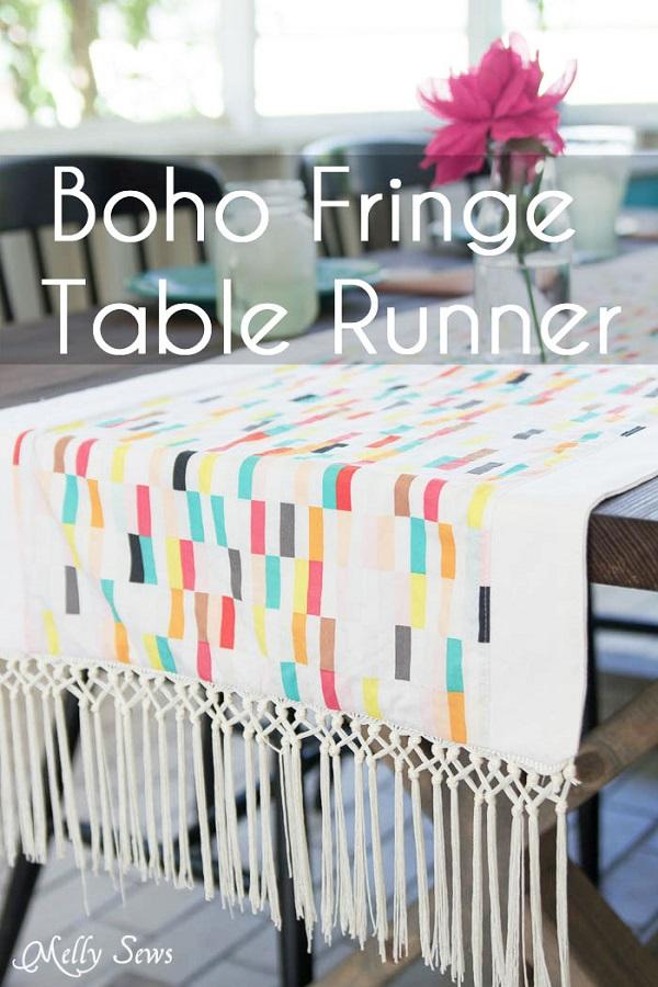 Tutorial: Fringe table runner