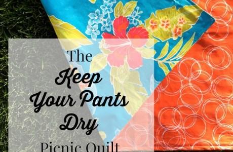 Tutorial: Waterproof picnic blanket to keep your pants dry