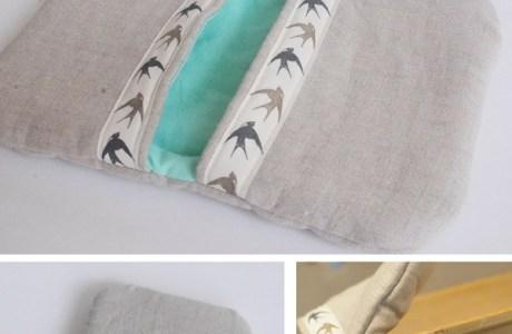 Tutorial: Linen and flannel pot holder