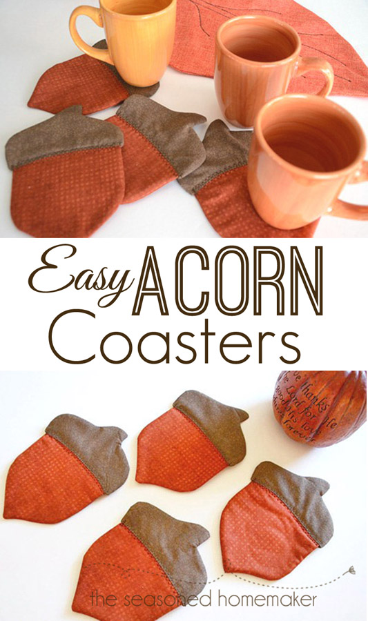 Free pattern: Autumn acorn coasters