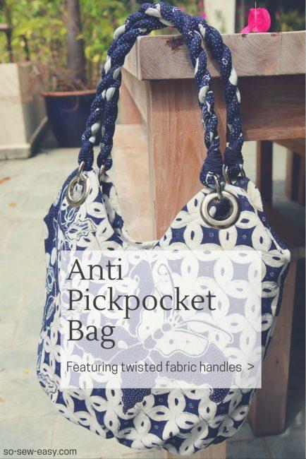 Free pattern: Anti Pickpocket Bag