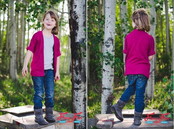 Free pattern: Girls' fall cardigan