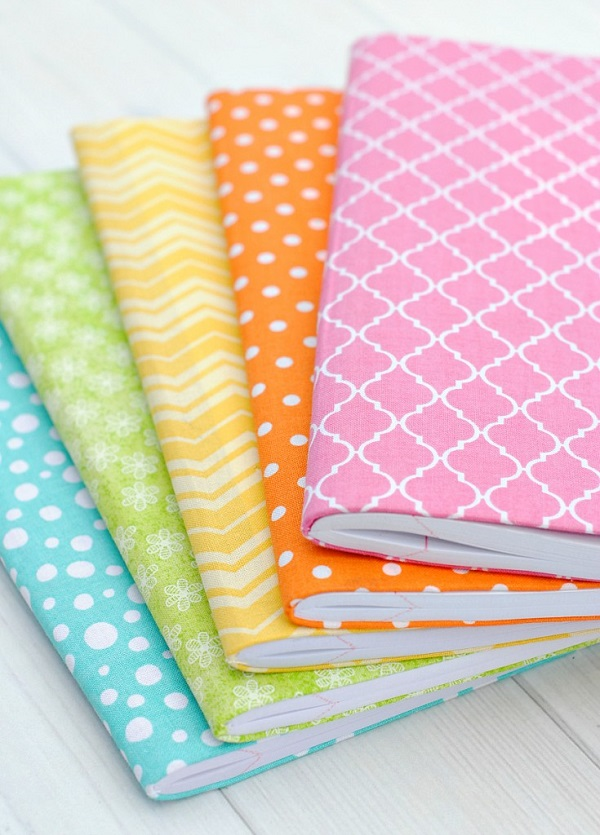 Tutorial: No-sew fabric covered journals