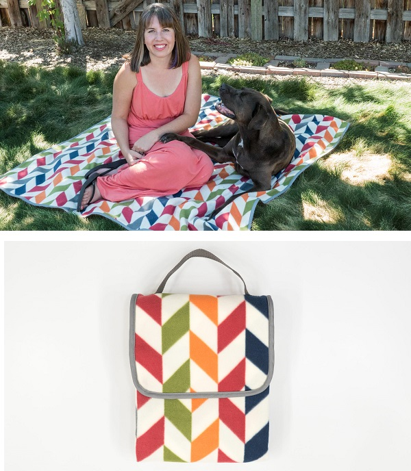 Tutorial: Fleece picnic blanket that folds to a tote