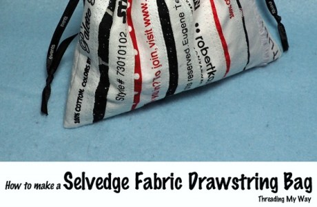 Tutorial: Selvage drawstring bag