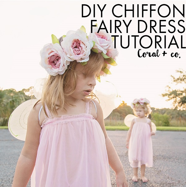 Tutorial: Chiffon fairy dress for little girls