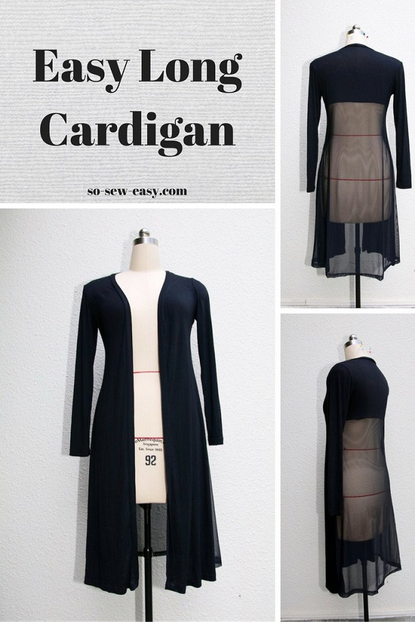 Free pattern: Easy long cardigan for fall
