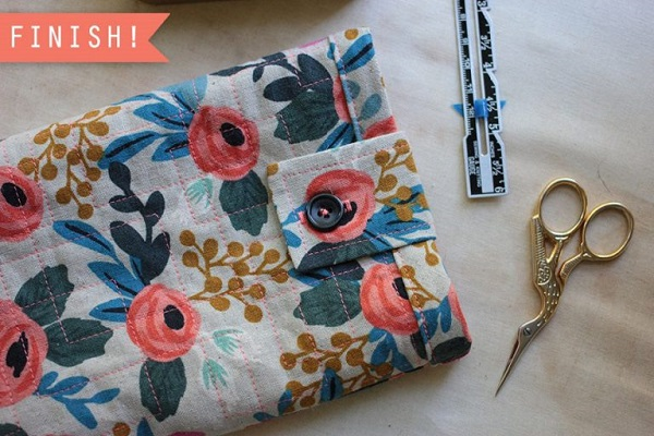 Tutorial Quilted tablet sleeve