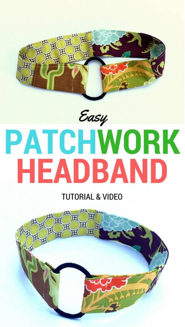 Tutorial: 10-minute scrap fabric headband