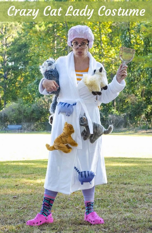 Tutorial Crazy cat lady Halloween costume no sewing required