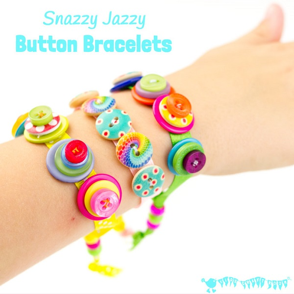 Tutorial: Ribbon and button bracelets