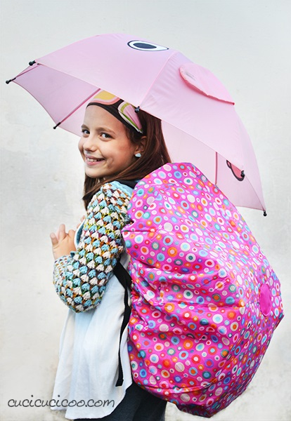 Tutorial: Make a backpack rain cover from an old umbrella