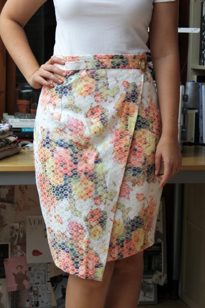 tutorial faux wrap pencil skirt sewing