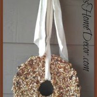 How To Make A Birdseed Wreath Tutorial and Recipe