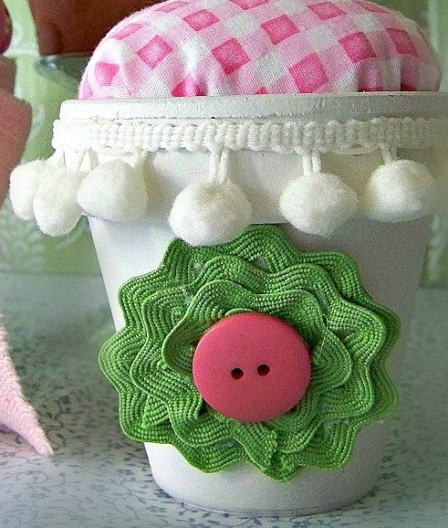 Flower Pot Pin Cushions