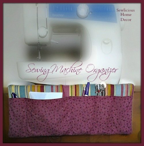 sewing machine orga 500x507 Easy Sewing Machine Organizer Tutorial