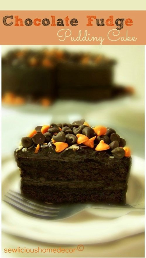 halloween chocolate fudge pudding cake dessert