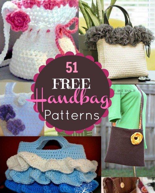 51 Free Handbag Patterns 51 Free Handbag and Purse Patterns and Tutorials