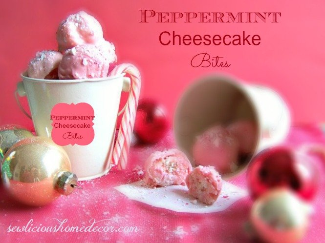 Peppermint Candy Cane Cheesecake Balls Peppermint Cheesecake Bites