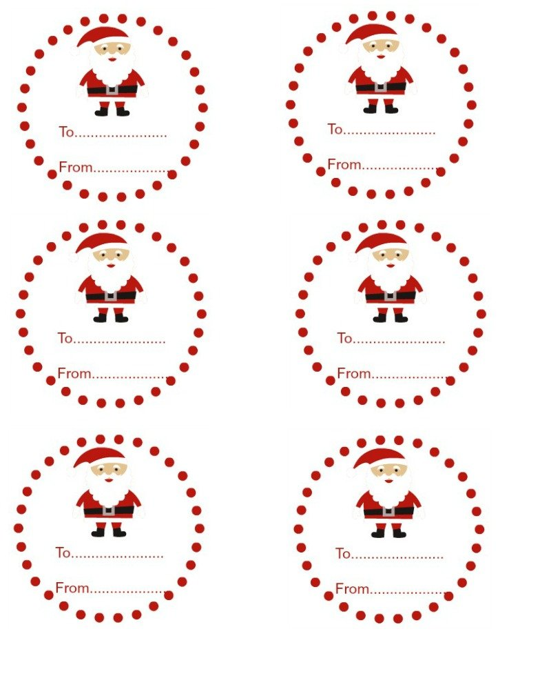 Printable Christmas Tags From Santa Santa gift tags. ho ho ho!
