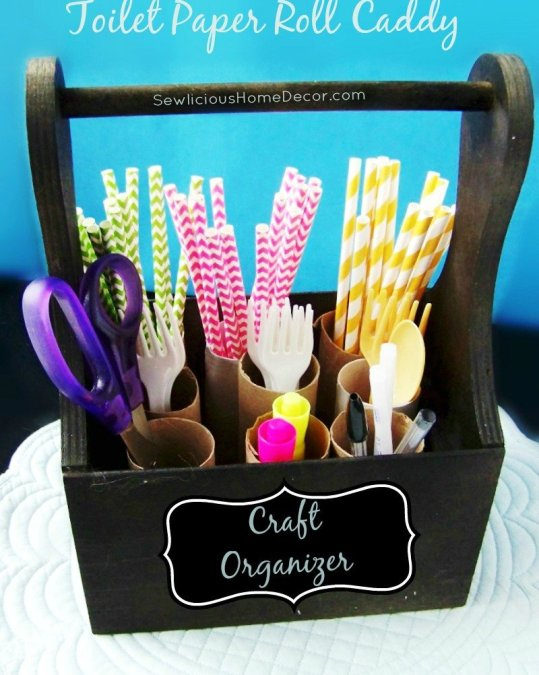 Toilet Paper Roll Craft Organizer at sewlicioushomedecor.com  DIY Toilet Paper Roll Yarn Holders