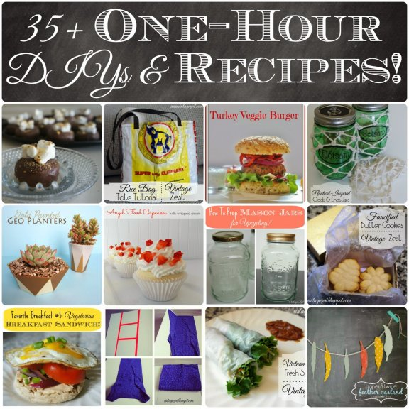 35 One Hour DIYs Recipes Saturday SHOW=licious Craft Showcase