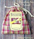 An Easy Mason Jar #Drawstring #Bag #Tutorial by sewlicioushomedecor.com
