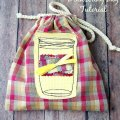 An Easy Mason Jar #Drawstring #Bag #Tutorial by sewlicioushomedecor.com