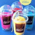 Fun McDonalds-Im-lovin-it-Use-plastic-cups-for-yarn-holders-at-sewlicioushomedecor