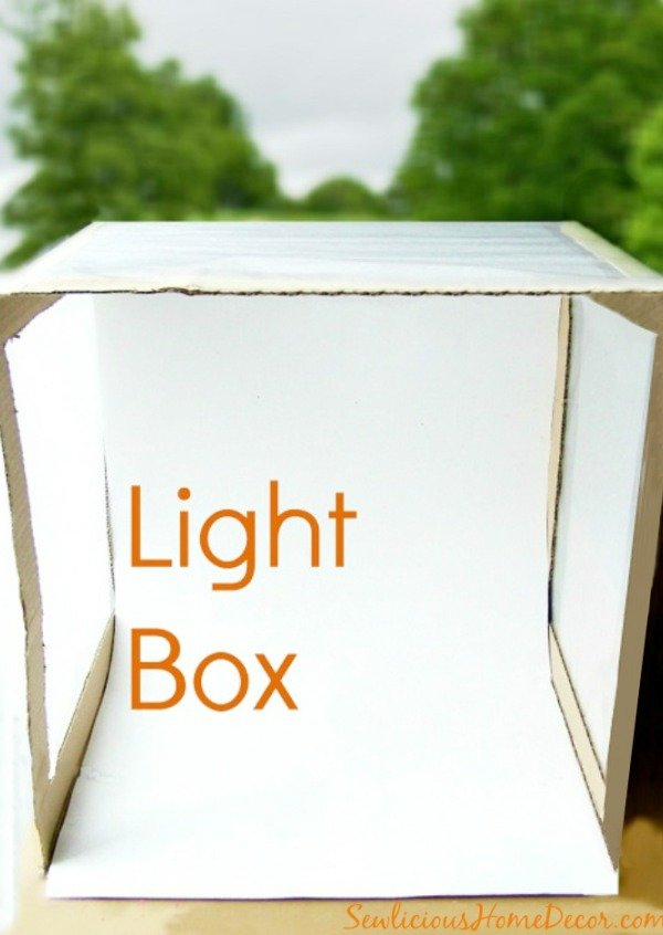 Light Box Photography at sewlicioushomedecor.com  Photography 101 How To Make A Light Box