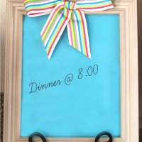 DIY Dry Erase Message Board from A Picture Frame