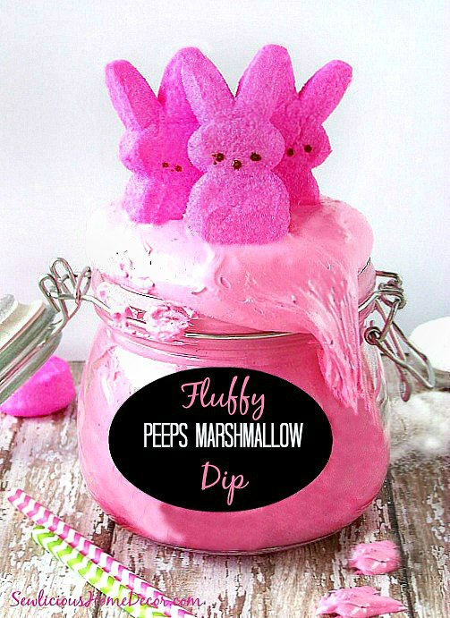 Pink and Fluffy Peeps Marshmallow Cream Dip Fluffy Peeps Pink Marshmallow Dip