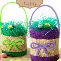DIY Yarn Easter Baskets
